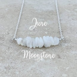 Moonstone Birthstone Necklace