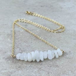 Moonstone gold Birthstone Necklace