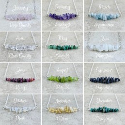 Nia9 Jewellery Birthstone Necklace Collection
