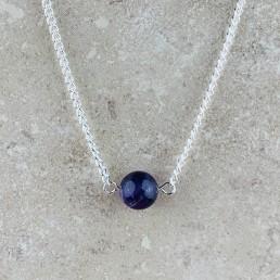 Amethyst bead necklace 1