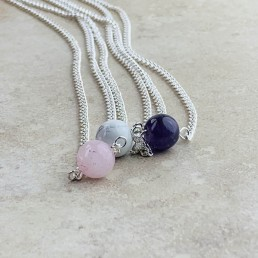 Round bead necklace collection1