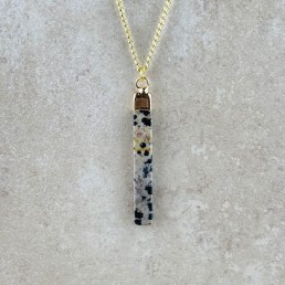 Dalmation bar necklace