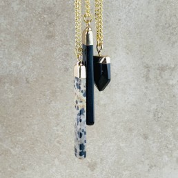 Dalmation bar necklace collection