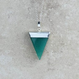 Aventurine triangle necklace1