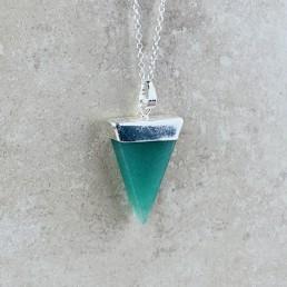 Aventurine triangle necklace