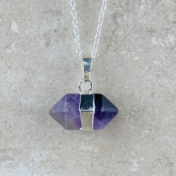 Amethyst hexagon necklace1