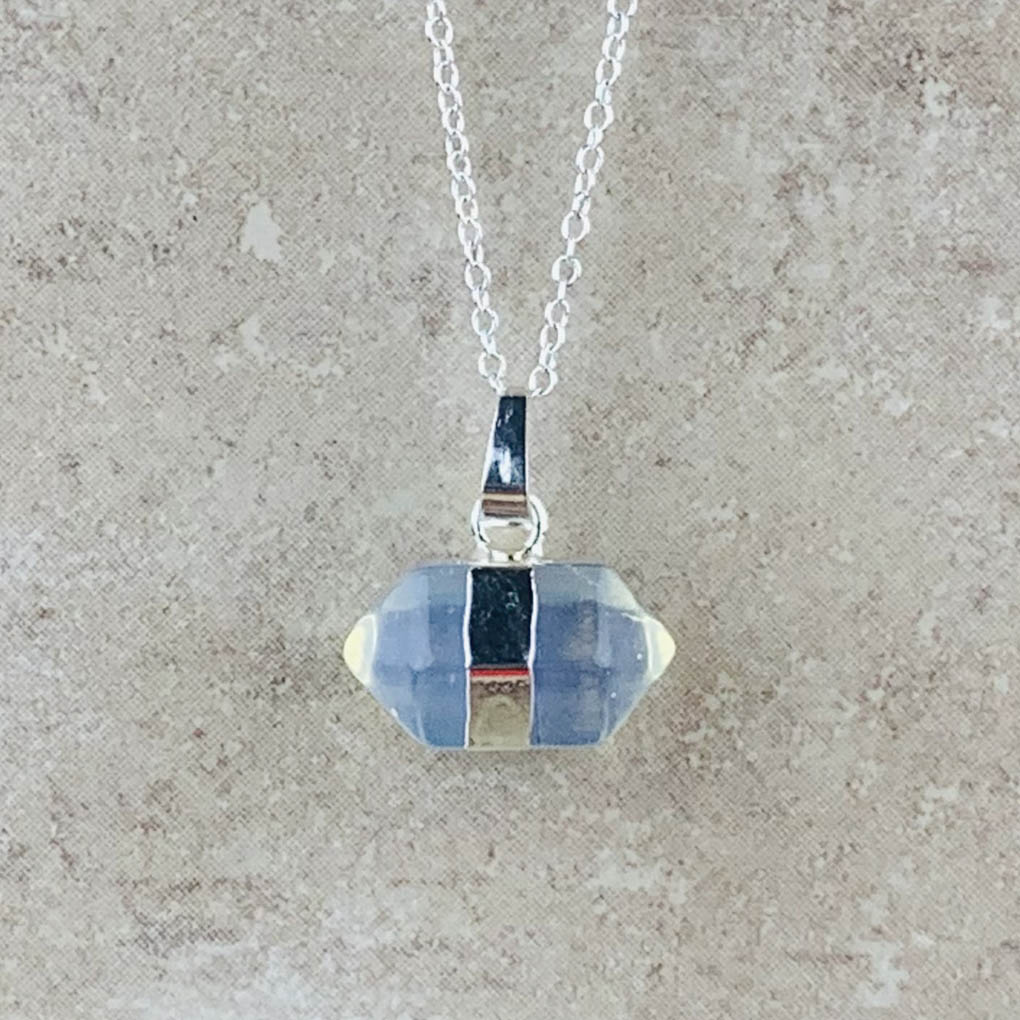 Opalite hexagon necklace