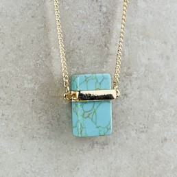 Turquoise Rectangle necklace2