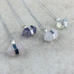 Hexagonal collection necklaces