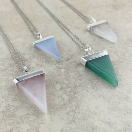 Triangle collection necklaces